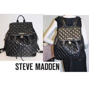 New Steve Madden Quilted Puffer Backpack Bag